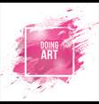 watercolor-pink-brush vector image vector image