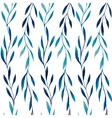 watercolor seamless pattern blue leaves vector image