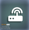 Wi fi router icon symbol on the blue-green vector image vector image