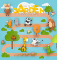 zoo animals in zoological garden vector image