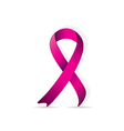 Breast cancer logo for poster pink ribbon vector image