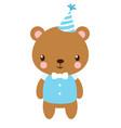 cute bear in the cap vector image