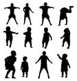 kids silhouette set vector image
