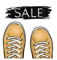 Summer trendy sports shoes Sale of sneakers vector image