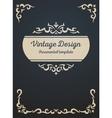 Vintage card design template vector image