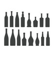 bottle silhouette set isolated on white background vector image