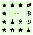 14 rating icons vector image vector image