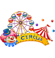 A signage at the circus with a clown vector image vector image