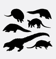 Anteater animal silhouette vector image vector image