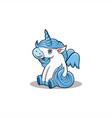 baby unicorn mascot carton vector image