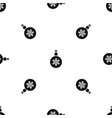ball for the christmas tree pattern seamless black vector image vector image