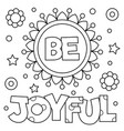 be joyful coloring page vector image vector image
