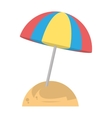 beautiful umbrella sun beach sand vector image vector image