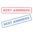 best answers textile stamps vector image vector image