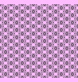 black decorative pattern vector image