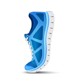 Blue curved sport shoes for running vector image vector image