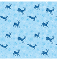blue seamless christmas background with blue goats vector image