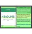 Brochure design template in eps vector image