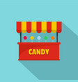 candy selling icon flat style vector image