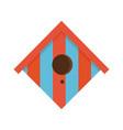 cartoon bird house icon vector image