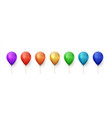color balloons realistic birthday and party vector image