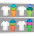 color tshirt design template vector image vector image