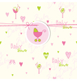 Cute baby shower card vector image vector image