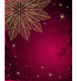 Dark red grungy Christmas frame vector image vector image