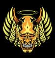 devil head cartoon vector image vector image