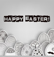 easter eggs background with pattern coloring book vector image vector image