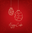 Easter eggs in doodle greeting card vector image vector image