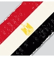 Egyptian grunge flag vector image
