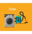 electronic appliances for home design vector image