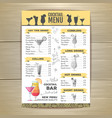 Flat cocktail menu design document template