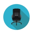 flat icon office chair vector image vector image
