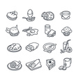 Food Icon Collection vector image