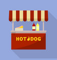 hot dog street shop icon flat style vector image vector image