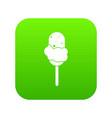 ice cream icon digital green vector image vector image