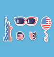 liberty statue sunglasses balloon in usa symbolism vector image
