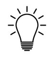 light bulb line icon idea sign vector image