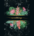 luxury tropical wedding invitation vector image vector image