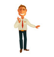 manager gesturing ok vector image vector image
