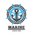 marine poster with symbols and headline vector image vector image
