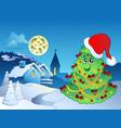 merry christmas theme 4 vector image
