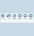 mobile app onboarding screens digital internet vector image vector image