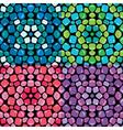 mosaic seamless 380 vector image vector image
