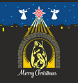 nativity of jesus christ vector image vector image