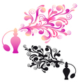 perfume bottle with floral scent vector image vector image