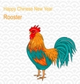 postcard with rooster as symbol chinese new year vector image