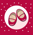 red baby crutches cute shoes colorful vector image